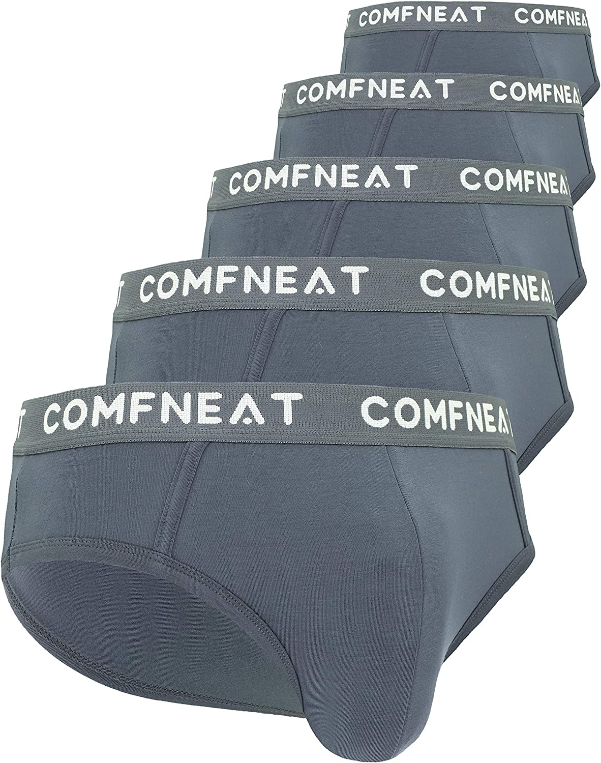 Comfneat Men's 5-Pack Briefs Elegant Bamboo Soft Stretchy Rayon Ultra Mail order cheap Co