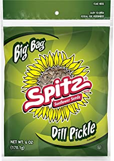 Spitz Dill Pickle Flavored Sunflower Seeds, 6 oz Bag (Pack of 12)