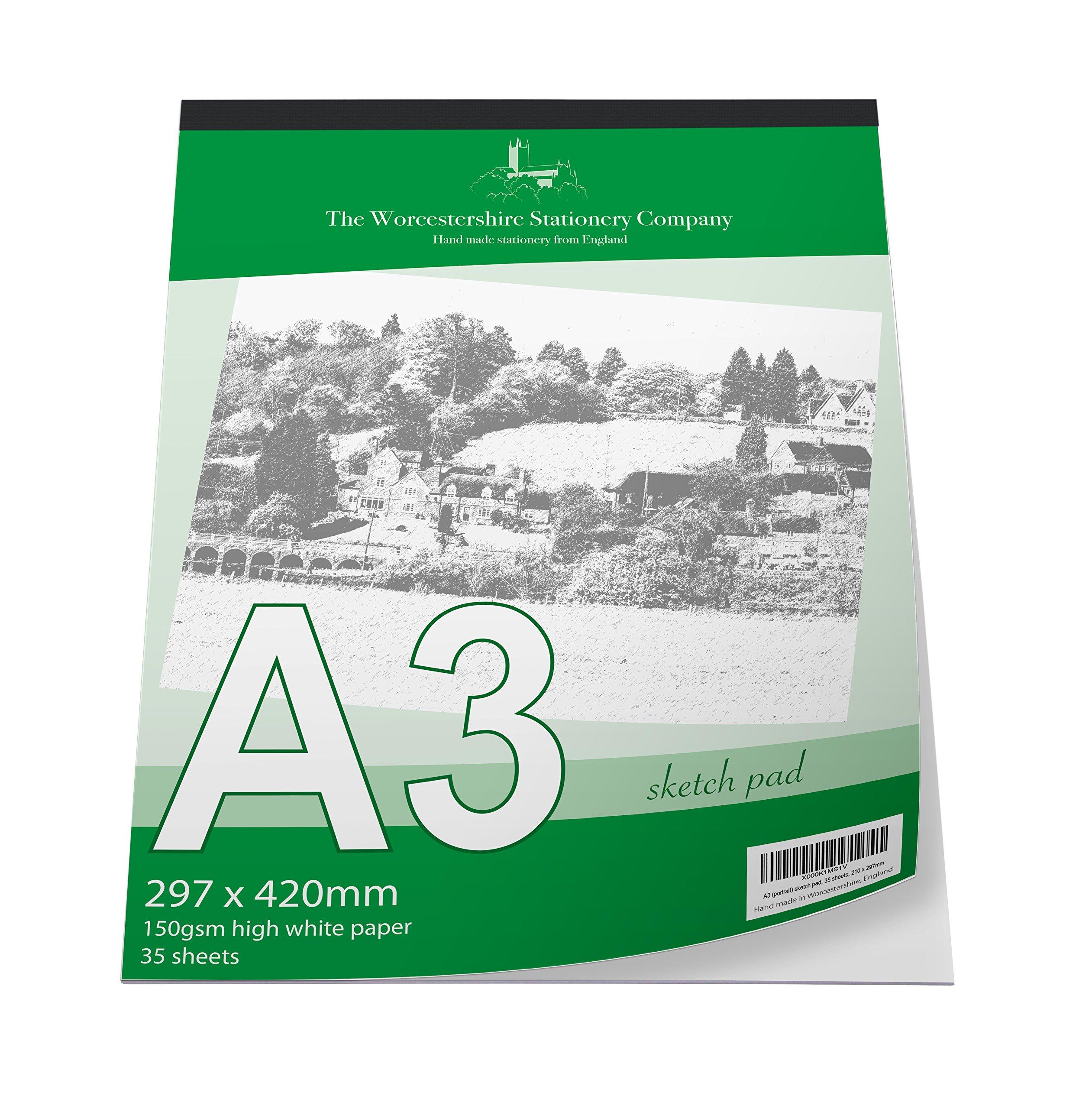 Querformat 40 Blatt Recycling-Skizzenbuch aus 170 g Recyclingpapier 80 Seiten A3 recyceltes Hartpapier