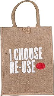 ECOTARA Jute Shopping & Vegetable Bag- Large(17 * 13 * 8 inches)