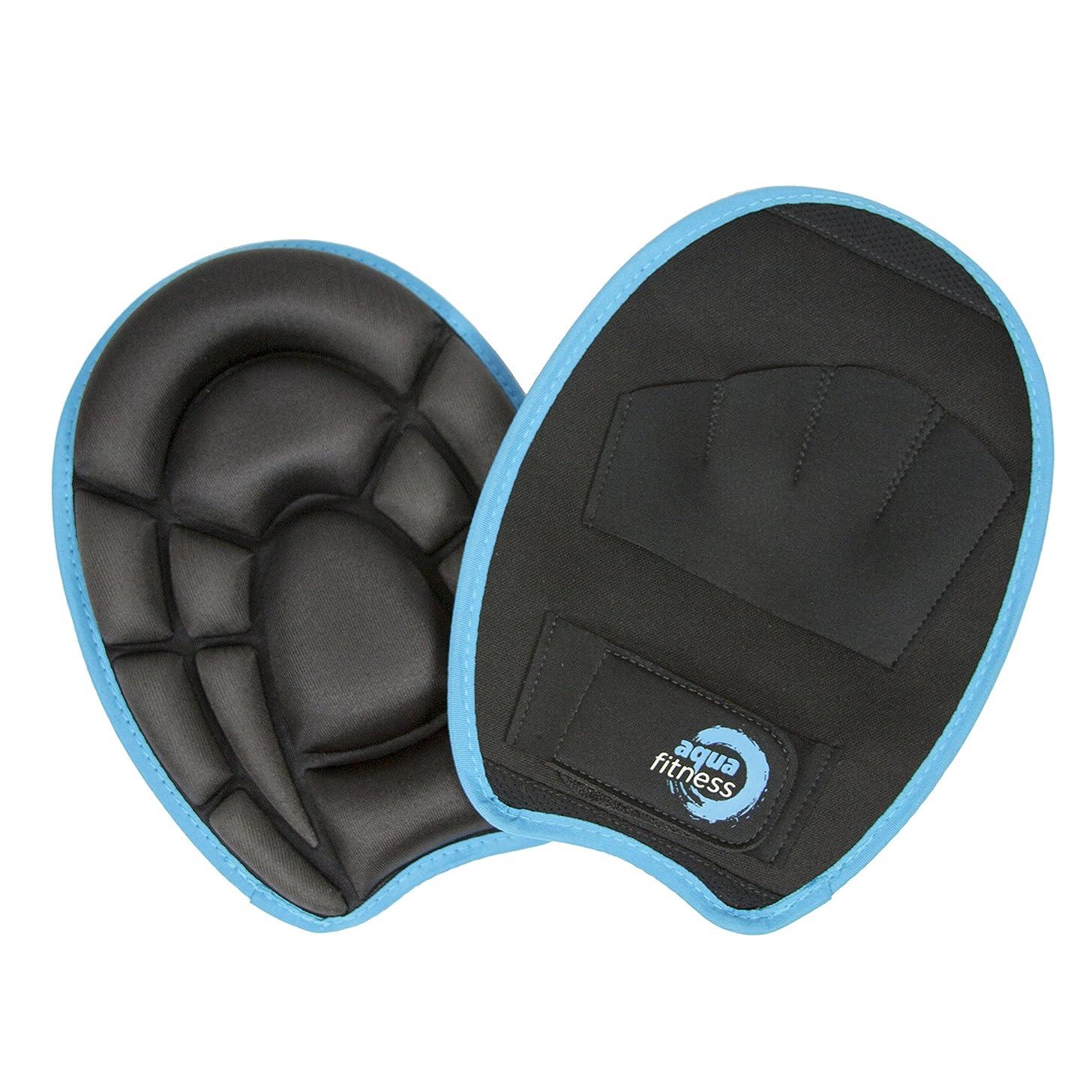 Aqua Fitness Premium Resistance Mitts, Gloves, Water Aerobics, Aquatic Low Impact Workout, Resistance Training