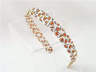 Candy Corn Halloween Woven Braided Ribbon Headband (1/2 inch)