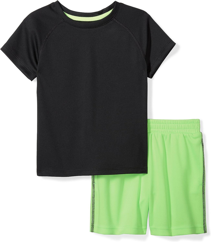 Amazon Brand - Spotted Zebra Boys' Active Short-Sleeve T-Shirt and Shorts Set