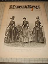 Harper's Bazar (1888) A Repository of Fashion - Spring Street & House Dresses - Ladies & Girls Spring Toilettes - Scenes of Old London Coaching Days - 19th Century Fashion