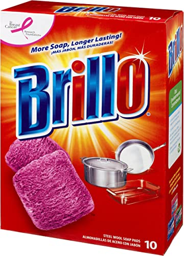 Brillo Steel Wool Soap Pads Original Scent (Red) 10-Count