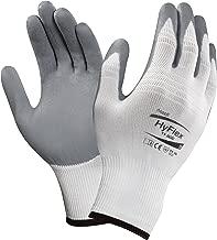 Ansell HyFlex 11-800 Nylon Glove, Gray Foam Nitrile Coating, Knit Wrist Cuff, Size 8 (Pack of 1)