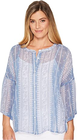 TWO by Vince Camuto - Ruffle Sleeve Country Paisley Blouse