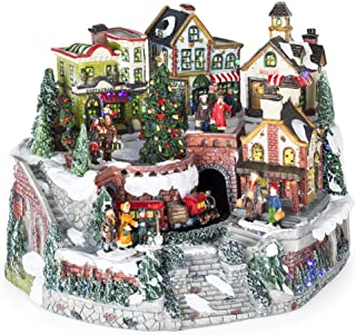 christmas village train tunnel