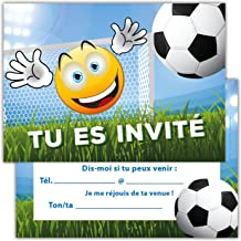 Carte Invitation Anniversaire Garcon Football Echantillon Offert