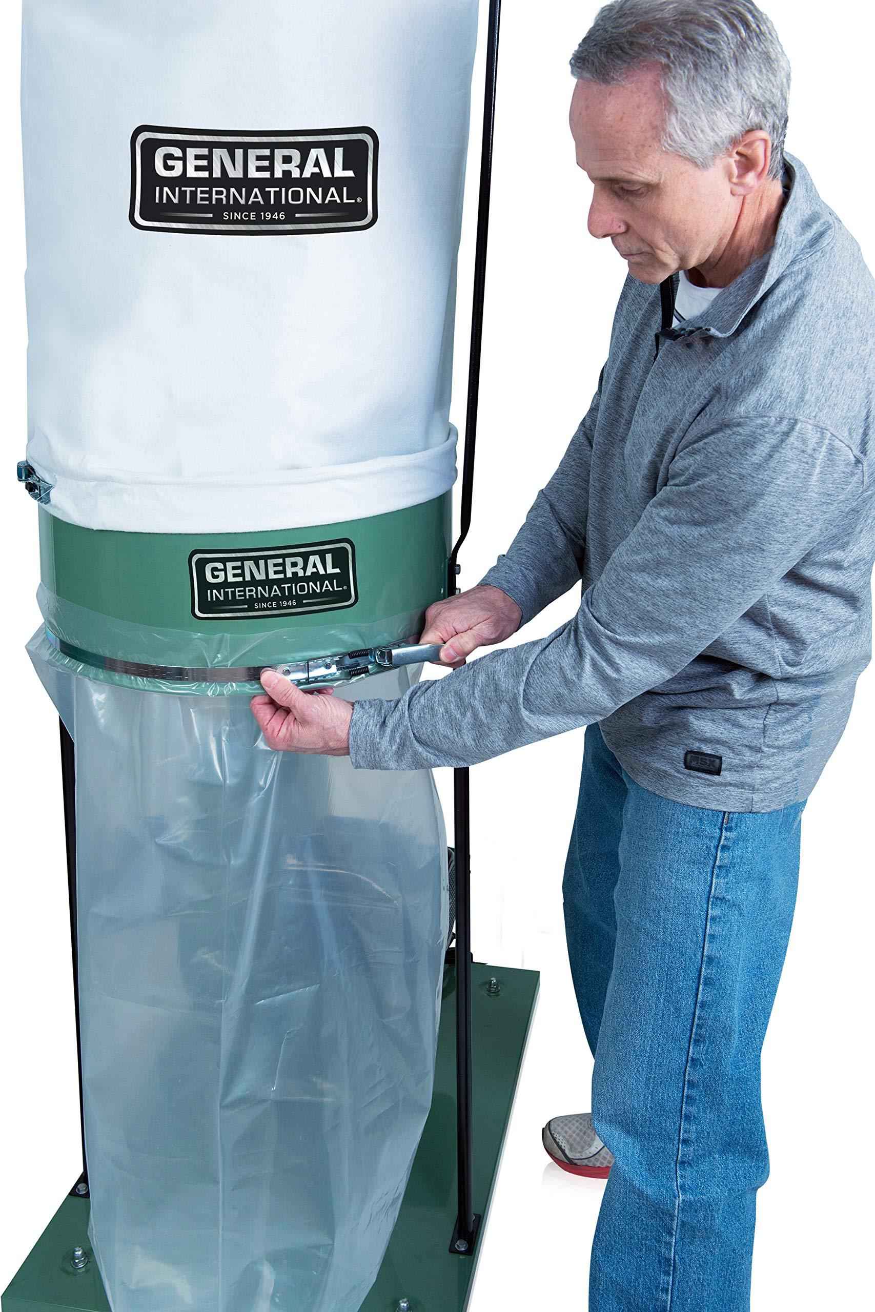 General International 10-105 M1 1-1/2 HP colector de polvo: Amazon ...