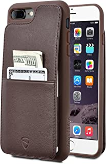Vaultskin Eton Armour iPhone case with Leather Wallet (Brown, iPhone 7/8 Plus)