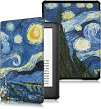 TERSELY Slimshell Case for All-New Kindle (10th Generation, 2019 Release), Premium Smart Shell Cover Protective PU Leather Cover with Auto Sleep/Wake for Amazon Kindle 2019 E-Reader Starry Sky