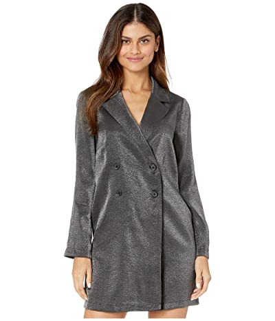 BCBGeneration Boyfriend Tuxedo Dress ZWU6261187 (Metallic Black) Women