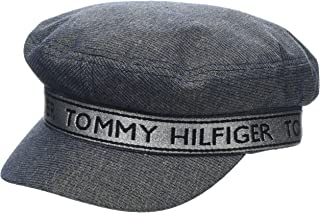 Tommy Hilfiger Women's Logo Baker Boy Hat, Tommy Navy, ONE