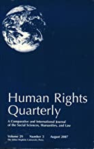 Human Rights Quarterly, August, 2007: Volume 29, Number 3