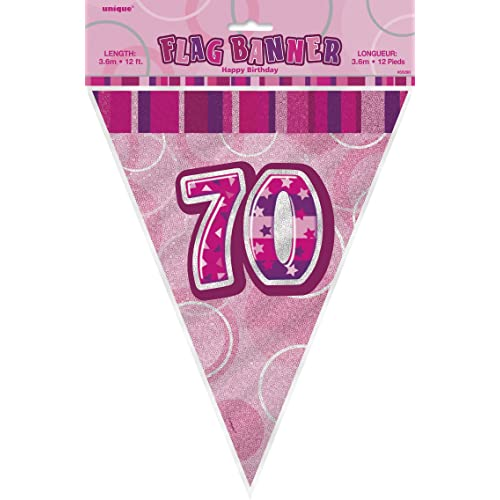 Pink 70th Birthday Party Decorations Amazoncouk