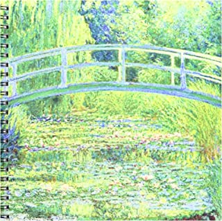 3dRose db_46577_1 Famous Monets Water Lillies with Lavender Frame Drawing Book, 8 by 8-Inch