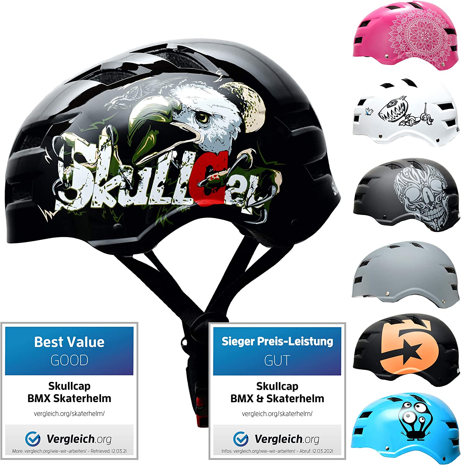 Skull-C Skateboard BMX Bike Online limited product Helmet from 6-99 Kids Max 80% OFF Adults for