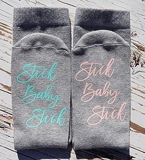 IVF Socks, Fertility Socks, lucky Socks, ivf egg retrieval, ivf transfer, ivf gift, surrogacy, motivational socks, stick baby stick, pupo