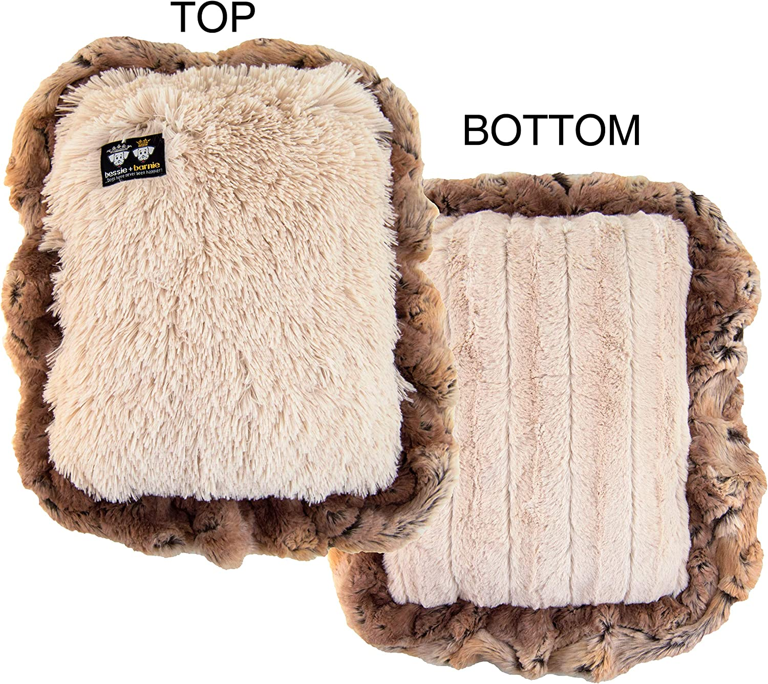 BESSIE AND BARNIE Mesh Deluxe Natural Beauty Blondie Simba (Ruffles) Pet Dog Durable Crate Pad