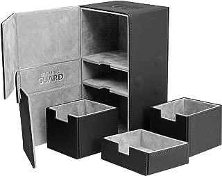 Ultimate Guard 200 Card Twin Flip N Tray Xenoskin Deck Case, Black