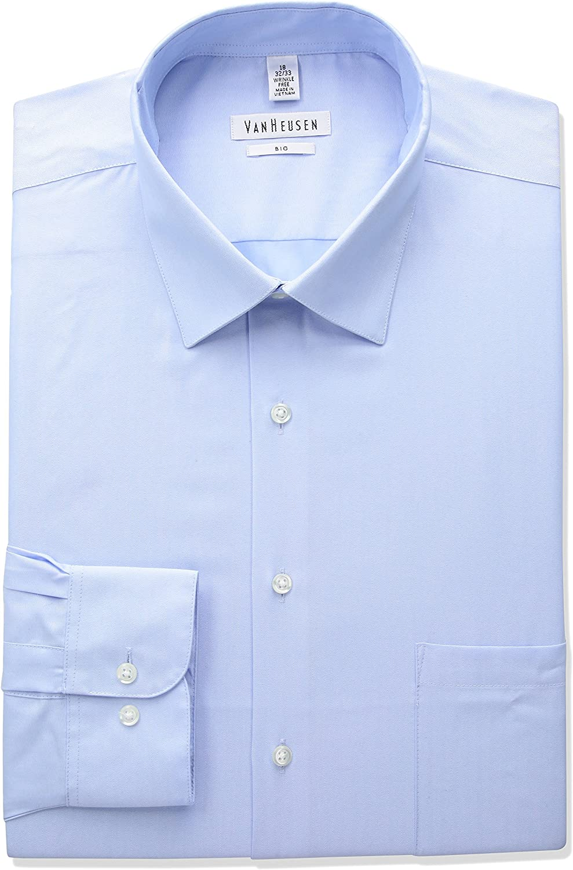 Van Heusen Men's BIG FIT Dress Big Shirts Herringbone and Choice 55% OFF Solid