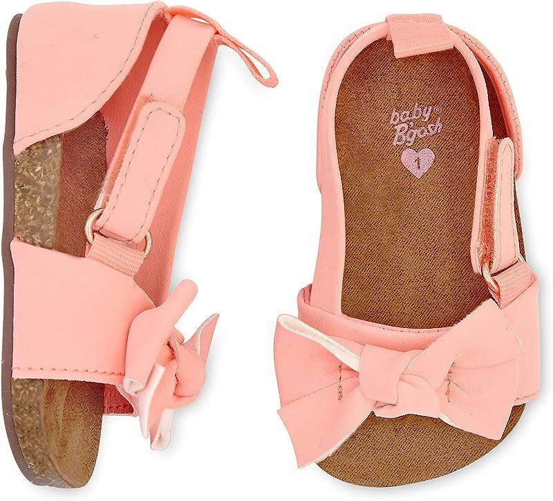 OshKosh B Gosh Girls Bow Strap Sandals Crib Shoe