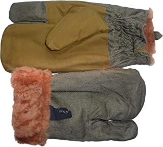 Russian Army sniper sheepskin mittens. Lobster claw.