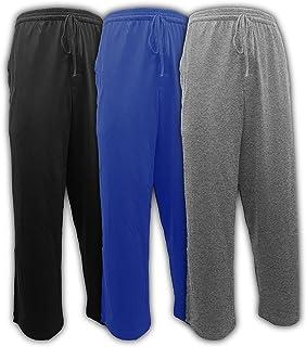 Andrew Scott Men's Pack of 3 Soft & Light 100% Cotton Drawstring Yoga Lounge & Sleep Pant