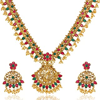 91a73d5c79 Shining Diva Fashion 6 Latest Designs 18k Gold Plated Stylish Wedding Party  Wear Traditional Necklace Jewellery