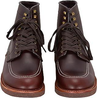 Smart Range Leather Indy Boots Bottes en Cuir de Style Classique Vintage, Cheville Haute, Look Western Brun foncé