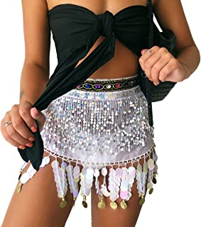Women's Belly Dance Hip Scarf Performance Outfits Skirt Festival Clothing