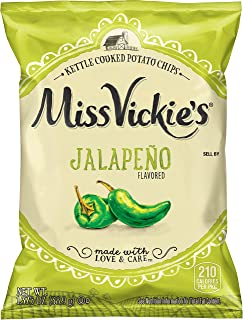 Miss Vickie's Jalapeño Flavored Kettle Cooked Chips, 1.375 Ounce (64 Pack)