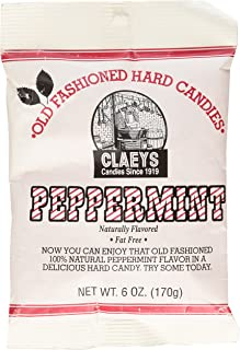 Claey's, Old Fashioned Hard Candy Peppermint, 6 Ounce Bag