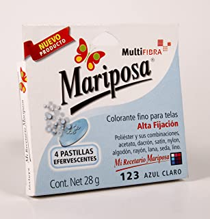Colorante Mariposa Multifibra 28 grs 123 Azul Claro