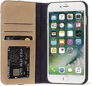 DECODED Premium Full-Grain Leather Wallet Case for iPhone 8 Plus / 7 Plus / 6s Plus / 6 Plus (Sahara Brown)