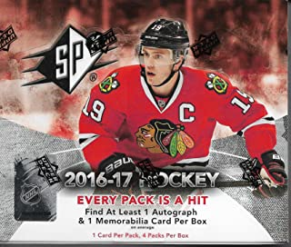 2016-17 UD SPX Hockey Sealed Box Of 4 Packs 1 Auto & 1 Memorabilia Per Box