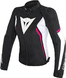 Dainese Women's Avro D2 Textile Jacket (44) (Black/White/Fuchsia)