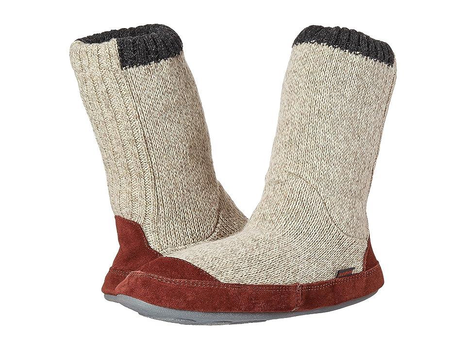 Acorn Slouch Boot (Grey Ragg Wool) Men's Slippers, Gray