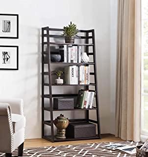 2L Lifestyle Hyder Wood Shelf Bookcase Tall, Brown