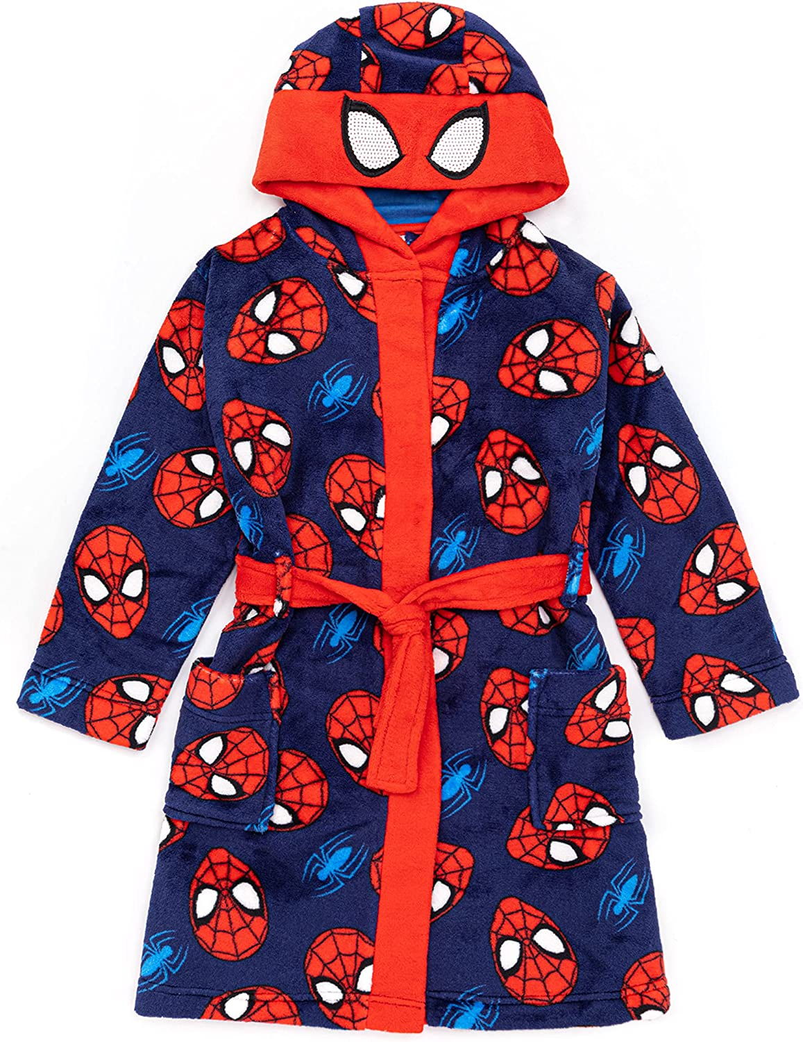 Marvel Spider-Man Dressing Gown Boys Kids Cosplay Pyjamas Robe: Clothing, Shoes & Jewelry