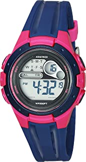 Armitron Sport Women's 45/7079NVY Pink Accented Digital Chronograph Navy Blue Resin Strap Watch
