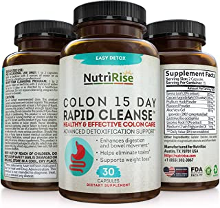 Colon Cleanser Detox for Weight Loss. 15 Day Fast-Acting Extra-Strength Cleanse with Probiotic & Natural Laxatives for Con...