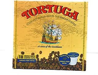 Tortuga Gourmet Single Serve Caribbean Coffee - 18 Single Serve Cups - Jamaica Port Royal Flavor