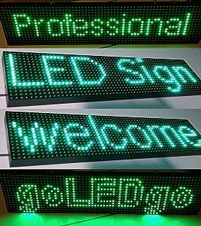 goLEDgo Splash WaterProof/UVProof Ultra bright GREEN Color Programmable Scrolling LED Message Sign(True Size:25.3