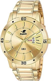 Espoir Analog Gold Dial Men's Watch-ESP12459