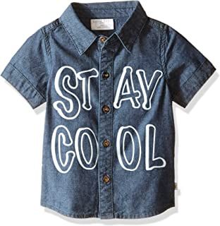 Rosie Pope Baby Boys' Short Sleeve Stay Cool Button Down Shirt