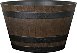 Classic Home and Garden HD1-1027 Whiskey Barrel Planter, 20.5