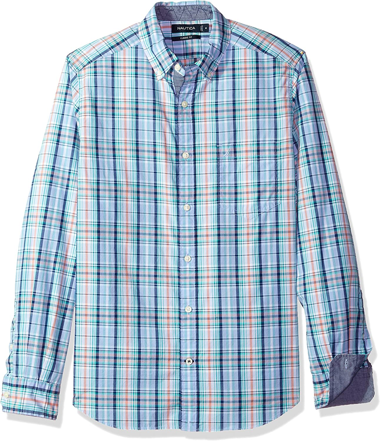 Nautica Men's Long Sleeve Large Plaid Down Discount mail Sale price order Button Shirt