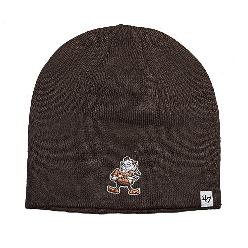 best cheap 466da e1f1b  47 Brand Cuffless Beanie Hat - NFL Knit Skull Toque Cap.